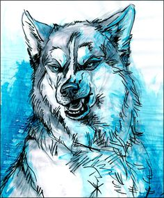 Ice Eyes by ~newfka on deviantART  #Art #Wolf #Wolves