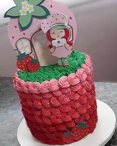Bolo da Moranguinho: 80 ideias delicadas e tutoriais de como fazer Cake, Children, Birthday, Desserts, Sissi, Food, Amazing Cakes, Birthday Cakes, Strawberry Shortcake Birthday