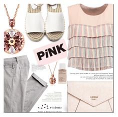 """PINK !"" by dian-lado ❤ liked on Polyvore featuring GUESS, Korres and Alexis"