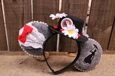 Mary Poppins-Inspired Mouse Ear Headband by ModernMouseBoutique