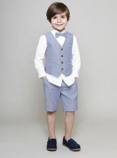 Boys JRM Blue Oxford Formal Shorts