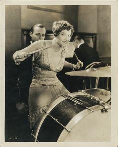 Lady Drummer with Huge Kick Drum