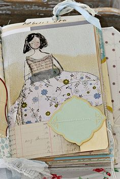 collaged art journal ~Remains of the Day by Sweet Pea Ink