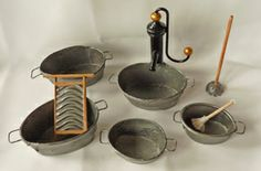 how to: miniature faux zinc tubs
