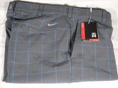 New Nike Golf Tiger Woods TW Standard Fit StayWarm Weatherized Plaid Pants $150