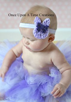 Lavender Shabby Easter Bunny Headband  Photo by OnceUponATimeTuTus