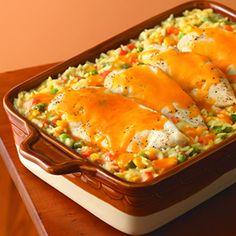 Cheesy Chicken and Rice Casserole