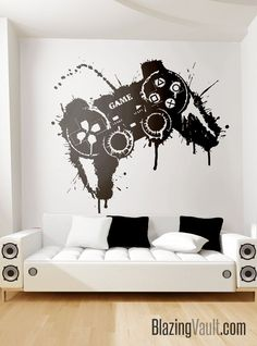 Excited to share this item from my shop: Video Game Controller Splat Paint Wall Decal - Gamer Playstation Fortnite Minecraft Warcraft League of Legends GTA Xbox by Blazing Vault Video Game Bedroom, Video Game Rooms, Video Game Music, Video Games, Gamer Bedroom, Boys Bedroom Decor, Boys Game Room, Boy Room, Gaming Room Setup