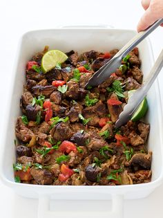 Slow Cooker Mexican Beef - Chef Savvy