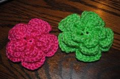 Triple Layer Crochet Flower free