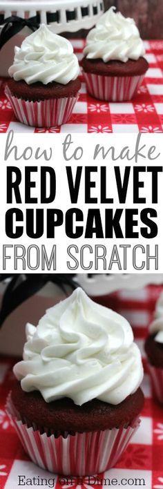 Red Velvet Cupcake recipe. How to make the best red velvet cupcake recipe in the world..from scratch!