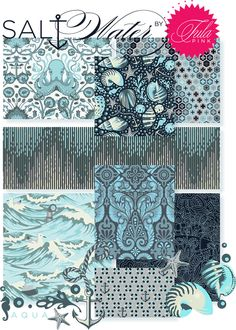 Tula Pink- Salt Water for Free Spirit fabrics