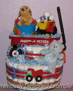 Red-Wagon-Diaper-Cake.JPG - Red Wagon Diaper Cake