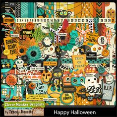 Happy Halloween by Clever Monkey Graphic - Digital scrapbooking kits available through Oscraps, GingerScraps, or MyMemories