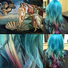 And it's ridiculously beautiful. | This Hairstylist Reinterprets Famous Paintings As Hair Colors
