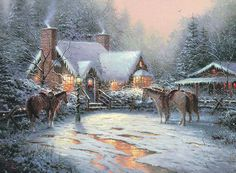 Thomas Kinkade official Art Brand Studios and Disney gallery specializing in limited editions, classics on canvas and gallery wrapped. We are and authorized Thomas Kinkade Signature dealer for all your Thomas Kinkade Disney, DC Comics and fine art needs. Thomas Kinkade Disney, Thomas Kinkade Art, Thomas Kinkade Christmas, Christmas Paintings, Christmas Art, Victorian Christmas, Christmas Scenery, Christmas Villages, Kinkade Paintings