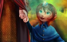 Young prince & butterfly (tiny fairy?) #magic #fantasy #illustration