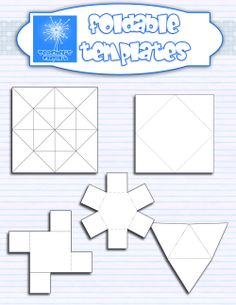 This set includes 5 foldable templates in different shapes and the directions to make them. Includes: a cootie catcher (fortune teller) 2 square templates a triangle template  an hexagon template