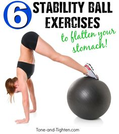 Elevate your ab results with this challenging exercise ball ab workout! From Tone-and-Tighten.com