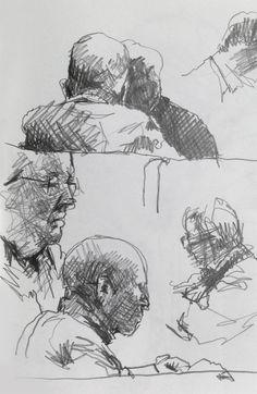 Life Drawing - Coffee Shop Sketches - Original artwork by davidhewittartist... #Art #LifeDrawing #Drawing #Sketchbooks #Pencil