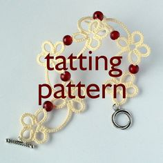 Tatting pattern for Garland bracelet available in littleblacklace store on Etsy. Requires 2 shuttles, but it's not very difficult - suitable even for beginners.