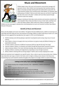 Music and Movement Classroom Displays