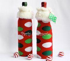 Bottle Gift Bags made from knee high socks!