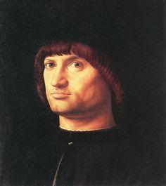 Antonello da Messina >> Portrait of a Man (Il Condottiere)  |  (aceite, obra de arte, reproducción, copia, pintura).