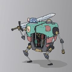 One of the hamster-powered bosses we created for our fishbowl-powered medieval robots game #FeudalAlloy More info at http://FeudalAlloy.com   #game #gaming #art #ilustration #videogame #design #gamer # #mecha #robot #mech #sketch