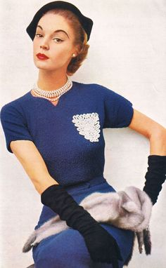 Todays hair & make up inspiration from Jean Patchett 1952