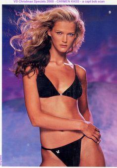 VS Christmas Specials 2000 catalog: Carmen Kass Carmen Kass, Victoria Secret Catalog, Catalog Cover, Bikinis, Swimwear, Christmas Specials, Victoria's Secret, Vintage, Style