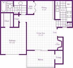 The Cedar Floor Plan at The Wilson Crossing Apartments in Cedar Hill, TX