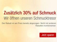Galeria: 30 Prozent Rabatt auch auf bereits reduzierten Schmuck https://www.discountfan.de/artikel/klamotten_&_schuhe/galeria-30-prozent-rabatt-auch-auf-bereits-reduzierten-schmuck.php Bei Galeria Kaufhof gibt es ab sofort und nur bis Ende Juli einen Sonder-Rabatt von 30 Prozent auf bereits reduzierte Schmuckstücke – die Preise beginnen bei 6,30 Euro. Außerdem sind T-Shirts um 20 Prozent reduziert. Galeria: 30 Prozent Rabatt auch auf bereits reduzierten Schmuck (Bil