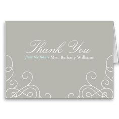 Future Mrs Bridal Thank You Card Appreciation Quotes Relationship, Appreciation Quotes For Him, Thank You Card Template, Thank You Cards, Friendship Quotes, Wedding Signs, Bridal Shower, Place Card Holders, Templates