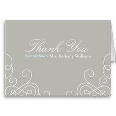 Future Mrs Bridal Thank You Card