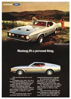 1971 Ford Mustang Mach 1 - It's a personal thing. - Original Ad