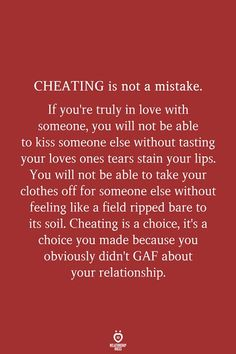 REKLAMLAR CHEATING is not a mistake. If you're truly in love with someone, you will not be able to kiss … One Love Quotes, Real Quotes, Mood Quotes, True Quotes, Positive Quotes, Couple Quotes, Quotes Quotes, Qoutes, Couple Texts