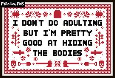 Hiding the Bodies Cross Stitch Pattern  PDF  Horror Pattern