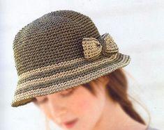 pdf download crochet pattern, raffia straw summer sun hat pattern