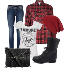 ~Casual Punk~ fashion look from August 2013 featuring tops, Tommy Hilfiger jeans and Charlotte Russe ankle booties. Browse and shop related looks. Punk Rock Outfits, Punk Rock Fashion, Grunge Fashion, Teen Fashion, Fall Outfits, Casual Outfits, Fashion Outfits, Hipster Outfits, Emo Outfits