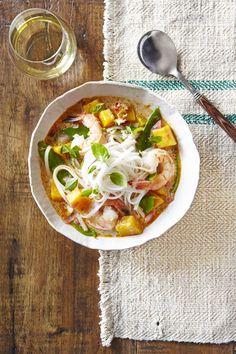 Thai Noodle Soup with Shrimp & Pumpkin