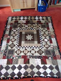 A hand sewn quilt from quite a few years ago.