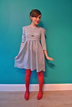 Tilly and the Buttons: Nautical Knit Dress - similar to Lady Skater