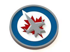 Winnipeg Jets ice hockey team logo #logo   #3Dmodel   #NHL   #icehockey   #WinnipegJets