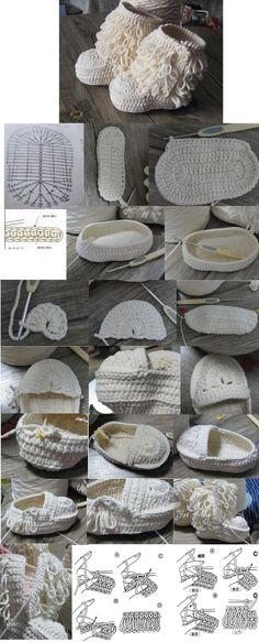 Botas Tejidas - Crochet