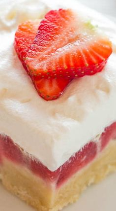 Strawberry Custard Bars ^