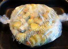 Картофель, запеченный в духовке с овощами и сыром