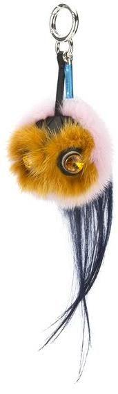 Fendi Marshmallow Mink Fur Bag Bug Charm (New with Tags)
