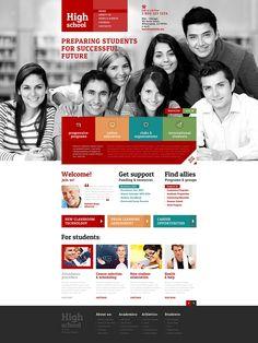 University Responsive Website Template New Screenshots BIG Web Layout, Site Website, Website Ideas, University Website, University University, Free Website Templates, High School Science, Ui Web, Budget Template
