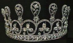 "Alt view Diamond Diadem of Marie Antoinette. Composed of 9 graduated floral sprays of rose-cut diamonds. (Christie's & DeBeers ""Ageless Diamond"" exhibit in 1959)"